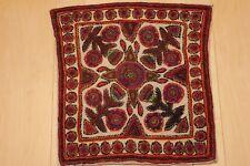 "Antique Persian Needlework Handmade Textile Ivory Traditional Pateh 15""X15"""