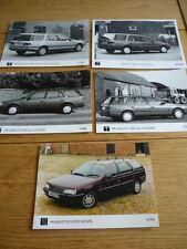 "PEUGEOT 405 ESTATE ORIGINAL PRESS PHOTOS - 5 OF ""SALES BROCHURE"""