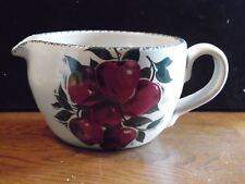 """Red Apple Pottery Mixing Bowl With Spout and Handle 4 3/4"""" Tall"""