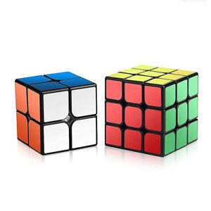 Speed Cube Pack 3x3 + 2x2 Bundle Smooth Fast Speed Puzzle Magic Cube