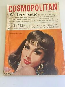 VINTAGE Cosmopolitan Magazine AUGUST 1959 issue GINA LOLLOBRIGIDA COVER