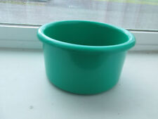 "Crock style bird or pet water/food plastic dish 28"" oz.bowl Sage green color"
