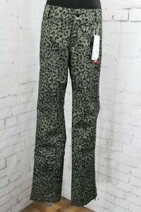 Volcom Battle Stretch Shell Snow Pants, Women's Small, Leopard Print / Green New