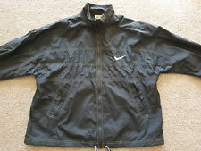 NIKE Old School Windbreaker Jogging Running Charcoal Gray 2 Pockets Size: Large