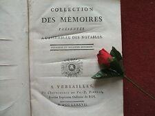 CALONNE ( DE )  COLLECTION DES MEMOIRES DES MEMBRES PRESENTES  A L' ASSEMBLEE .