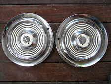 "1954 1955 OLDSMOBILE 15"" HUBCAP HUB CAP WHEEL COVER SET OF TWO"