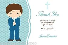 10 Personalised Communion Thank You Cards Boy 2