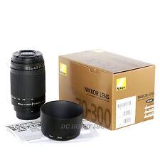 Objetivo Nikon AF Zoom Nikkor 70-300mm f/4-5.6 G lens 70 300 mm + Nikon warranty