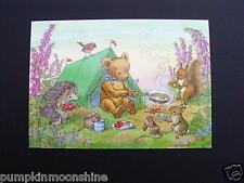 "Unused Molly Brett Greeting Post Card "" Teddy's Tent "" Medici Ltd. England"