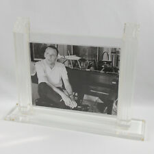 Vintage Oggi Design Italy Large Lucite Picture Photo Frame