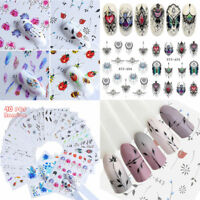 Wholesale 40 Sheets Mixed Flower Water Transfer Nail Stickers Decals Art Tips
