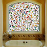 3D Leaf Stained Decorative Glass Frosted Window Film Privacy Block Decor