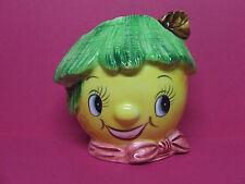 Vintage PY Anthropomorphic Smiley Lemon Head Wall Pocket (Japan)