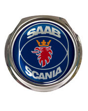 Saab Scania Blue Design Car Grille Badge - FREE FIXINGS