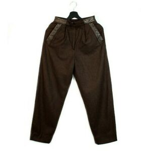 70s 80s CAZAL vintage high waist pants carrot trousers wool West Germany 36 S