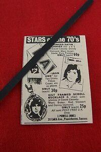 1973 DAVID CASSIDY ORIGINAL VINTAGE ADVERT FAN MERCHANDISE SCARF NECKLACE