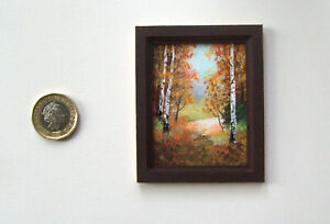 DOLLS HOUSE MINIATURE ORIGINAL HANDMADE 1/12TH SCALE OOAK PAINTING PICTURE