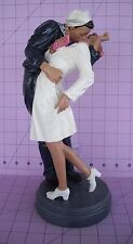 """Sculpture WWII Sailor Kissing Nurse 12"""" Art VJ Day US Navy Times Square New York"""