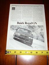 1984 Buick Grand National *Original Article*