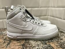 Nike Air Lunar Force 1 Duckboot Mens SZ 11 Triple White Waterproof 805899-101