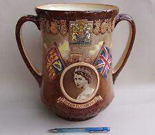 Rare Royal Doulton 1953 Loving Cup, Queen Elizabeth II Coronation 963/1000 Huge