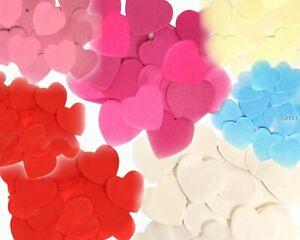 BULK 100g Hearts Tissue Paper Confetti Wedding Flame Retardant Bio-degradable