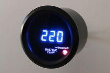 """2"""" Digital Water Temperature Meter Blue LED Black Smoke Lens 104 - 280 F"""
