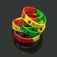 Bob Marley Music Silicone Wristband Bracelet Unique Design Stretchable 6 PC