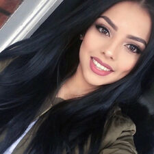 AISI HAIR Synthetic Long Straight Hair Black Wig Middle Part Women Fashion Wig
