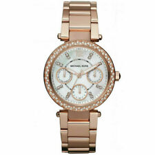 Michael Kors MK5616 Women's Rose Gold-Tone Glitz Parker Mini Chronograph Watch