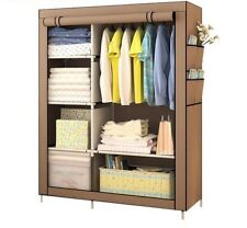 Cabinet Clothes Storage Home Furniture Portable Easy To Install With Fabric Case