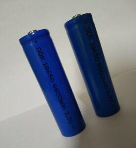 2 batterie pila ricaricabile a litio 3,7 v. 8800 mha / 35 grammi