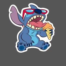 Stitch Sticker - Stitch Eating Icecream - Decal - Pegatina Lilo and Stitch Vinyl
