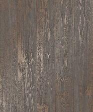Tablas de madera revestimiento metálico brillo. Madera Wallpaper Fine Decor Loft FD41959