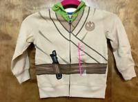 STAR WARS YODA Zippered HOODED Jacket Size Disney NWT Kids