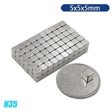 Lot 1 500pcs N35 Super Strong Block Cube Magnets 5x5x5 Mm Rare Earth Neodymium