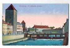 H 274  Straßburg Elsaß Bas Rhin, Gedeckte Brücken,Feldpost