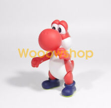 "Super Mario Red Yoshi Bros. 4"" Action Figure Collection Nintendo Doll Figurine"