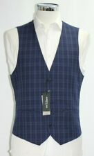 Men's Kenneth Cole, Navy Check waistcoat (38R).. sample 5289