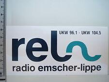 Aufkleber Sticker Radio Emscher Lippe - UKW 96,1 / 104,5 - Rundfunk - REL (1726)