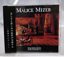 Malice Mizer Memoire 1st Edition limited 3000 w/ serial # Tetsu Mana Kozi visual