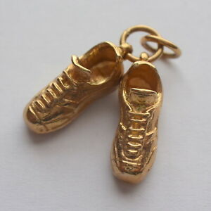 Football Boots Shoes Pendant Gold 9ct Unisex Jewellery Mens Boys