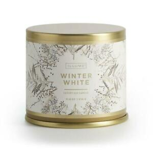 Winter White Scent Large Tin Christmas Candle 50 Hr Burn Time