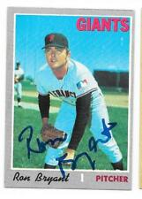 RON BRYANT 1970 TOPPS AUTOGRAPHED SIGNED # 433 GIANTS