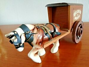 Mid-Century Pottery Shire Horse and Cart - Melwood Bakeries