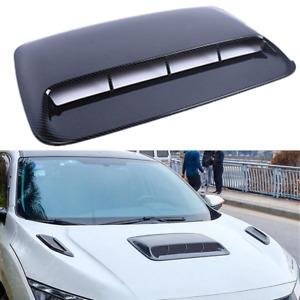 Universal Carbon Fiber Look ABS Racing Air Flow Vent Turbo Hood Scoop Cover