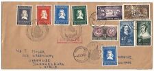 Netherlands #115-19 + South Africa #B234-7 + 1952 Fdc & Flight cover