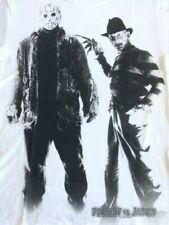 Freddy Krueger vs. Jason Voorhees White T-shirt Oop Licensed