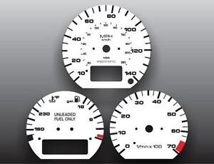 1990-1992 Volkswagen Corrado Electronic G60 Instrument Cluster White Face Gauges