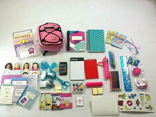 """American Girl Doll 75+Piece School Supplies Backpack Accessories 18"""" Doll BACK!"""
